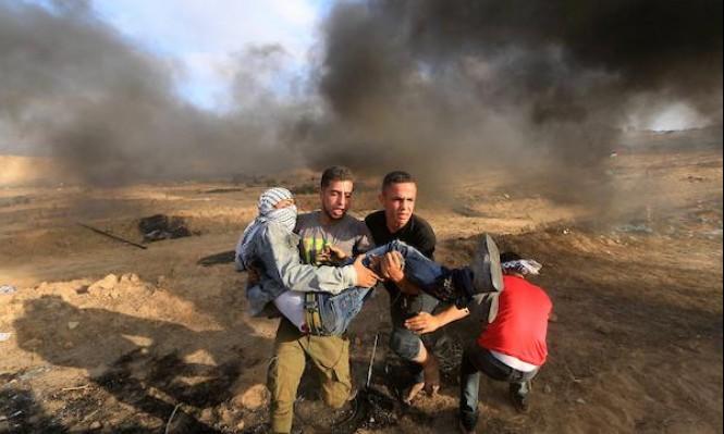 غزّة: شهيد وأكثرُ من 220 مُصابًا بسلاح الاحتلال