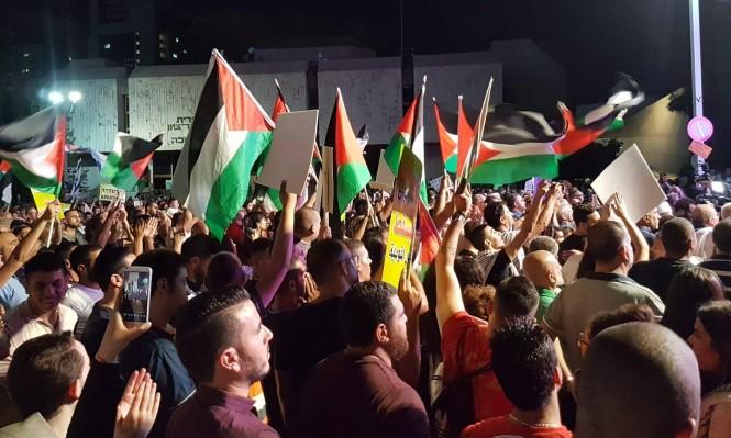 بركة يحيي عشرات آلاف المتظاهرين وجهود إنجاح مظاهرة تل أبيب