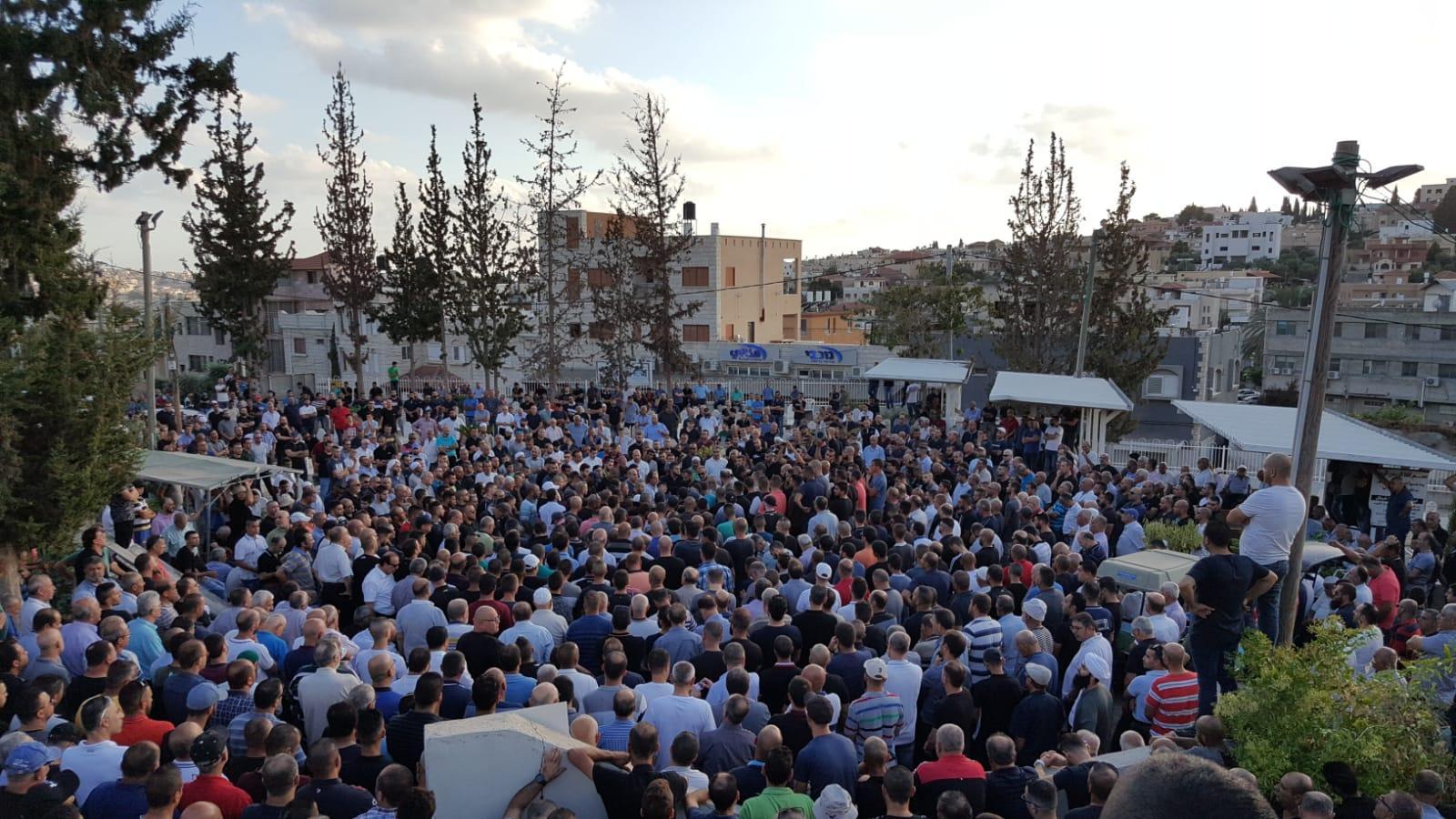 باقة الغربية: جنازة مهيبة لضحية جريمة القتل