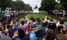 الآف المُشاركين بمظاهرة حاشدة ضد العنصرية بالعاصمة الأميركية