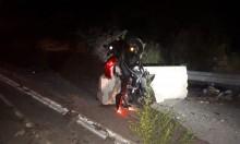 إصابة خطيرة إثر انقلاب دراجة نارية قرب المغار