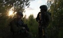 جيش الاحتلال يجري تدريبات عسكرية بتخوم نابلس