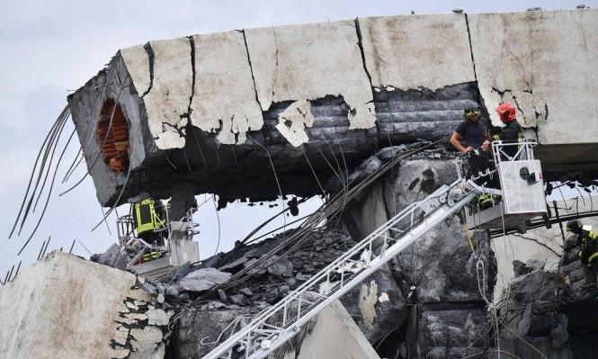 حالة طوارئ في جنوة بعد انهيار جسر موراندي