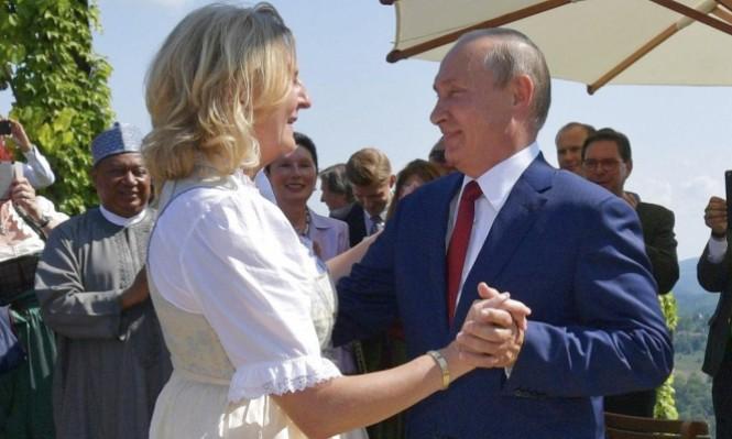 هكذا احتفل بوتين بحفل زفاف وزيرة خارجية النمسا