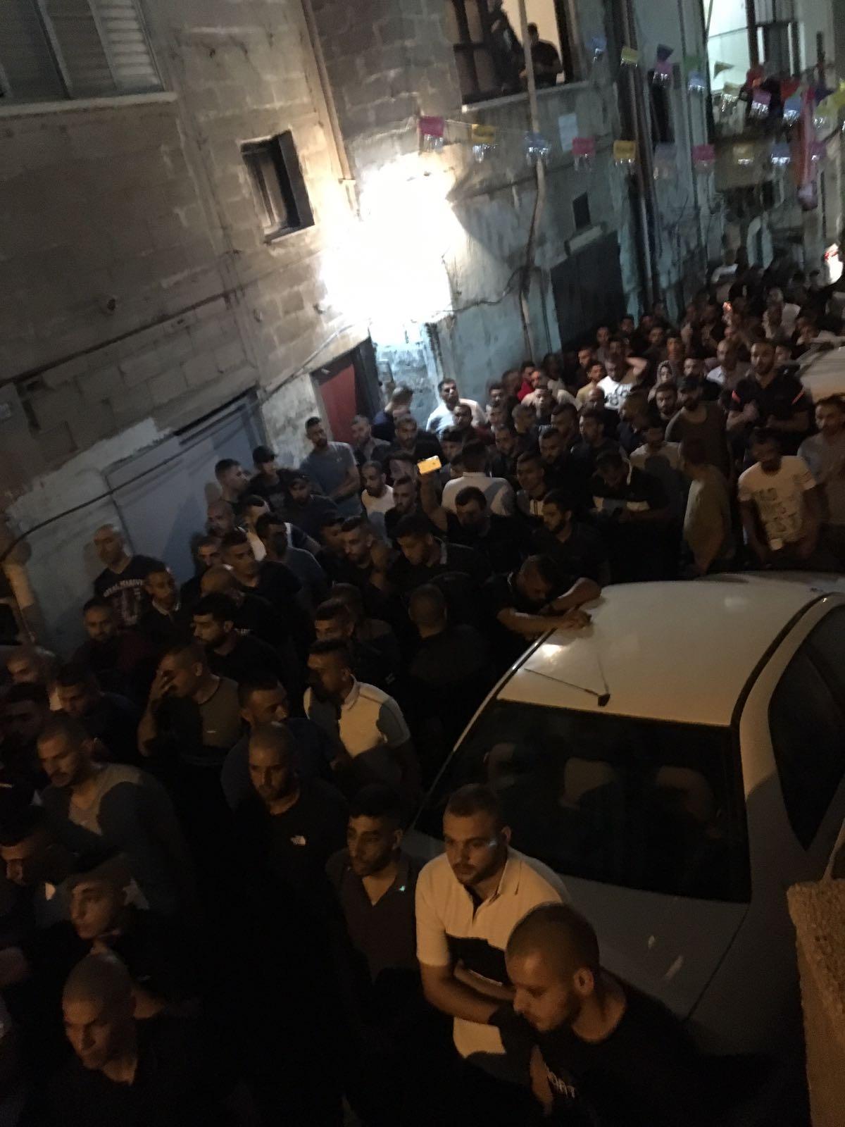 أم الفحم: جنازة حاشدة للشهيد أحمد محاميد