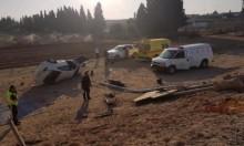 مصابان في حادثَي طرق بالنقب