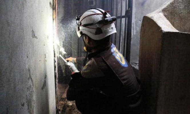 """سورية: النظام يستخدم """"ادعاءات الكيميائي"""" لتشويه صورة """"الخوذ البيضاء"""""""