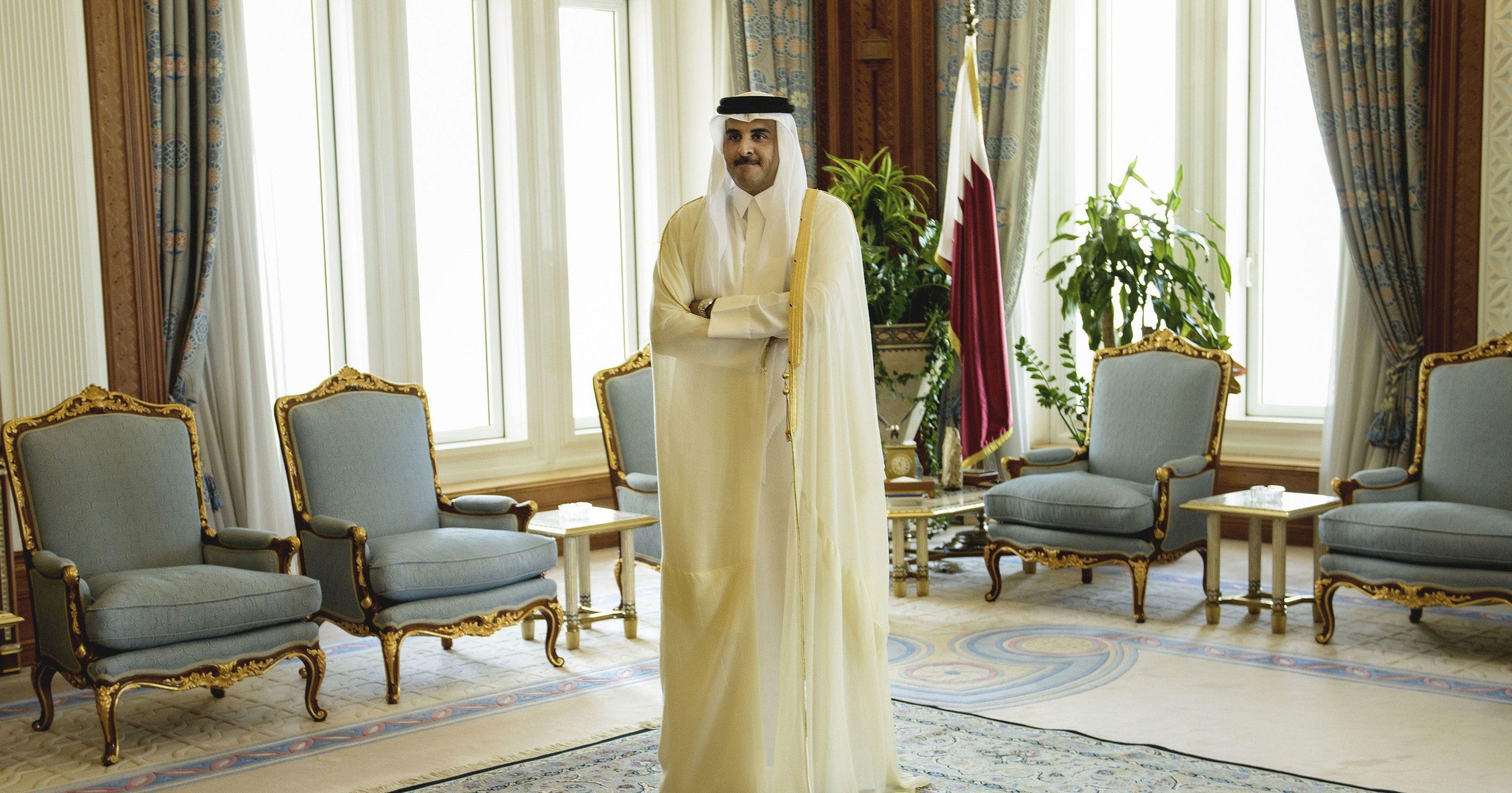 أمير قطر (أ ب)
