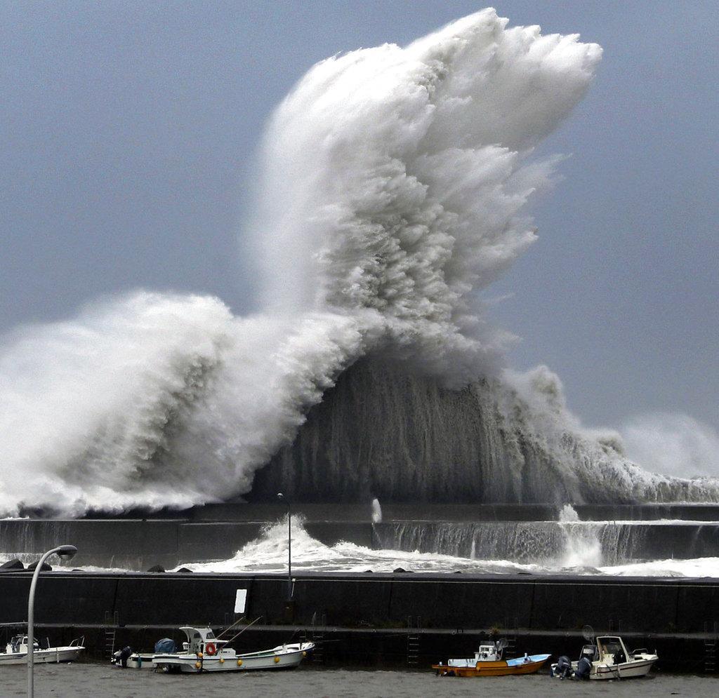 الإعصار الأقوى منذ ربع قرن يضرب اليابان