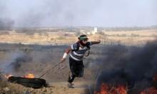 غزة: 25 مصابًا في قمع الاحتلال لمسيرة سلمية شمال القطاع