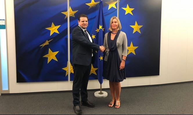 """وفد المشتركة يلتقي مسؤولين أوروبيين لبحث """"قانون القومية"""""""