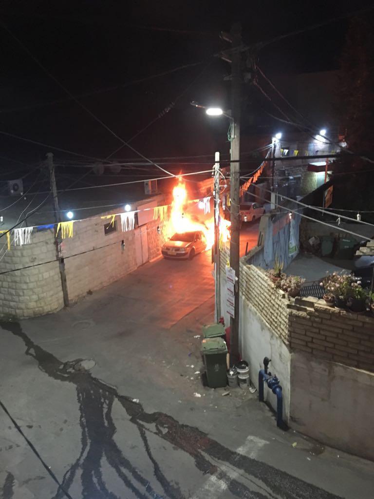 البعنة: إضرام النار في 3 سيارات