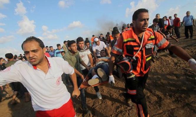غزة: شهيد وعشرات الجرحى برصاص الاحتلال