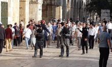 الوزير أرئيل يتقدم مئات المستوطنين باقتحام الأقصى