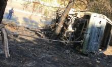 العثور على جثة داخل سيارة محروقة بالجولان