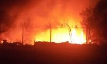حريق هائل في عين فشخة واعتقال 3 فلسطينيين