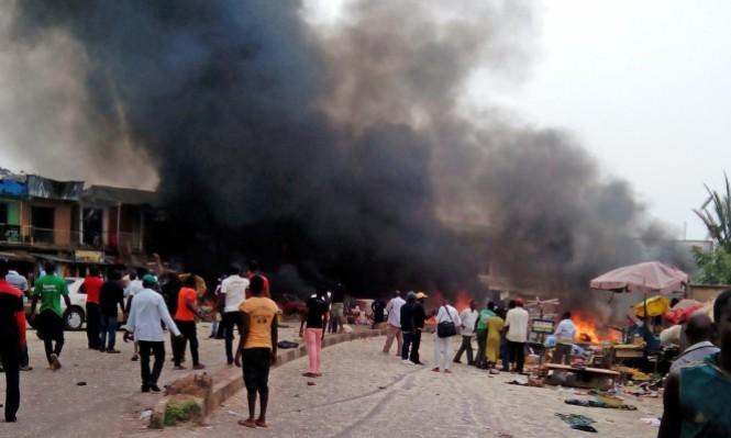 18 قتيلا وعشرات الجرحى بانفجار مستودع للغاز بنيجيريا