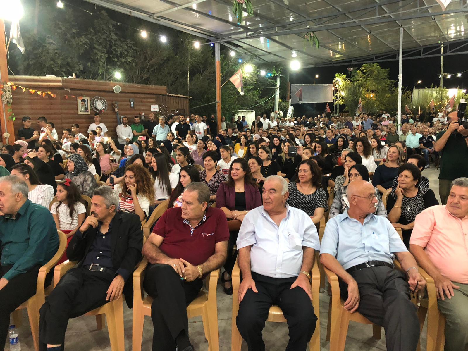 كفر كنا: تحالف الجبهة والتجمع ينظم مهرجانا انتخابيا