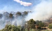 النيران تشتعل بأحراش بين الناصرة وإكسال