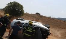 وادي سلامة: إصابة خطيرة لشاب في انقلاب سيارة