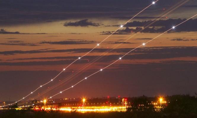السماء بعد هبوط طائرة في فرانكفورت