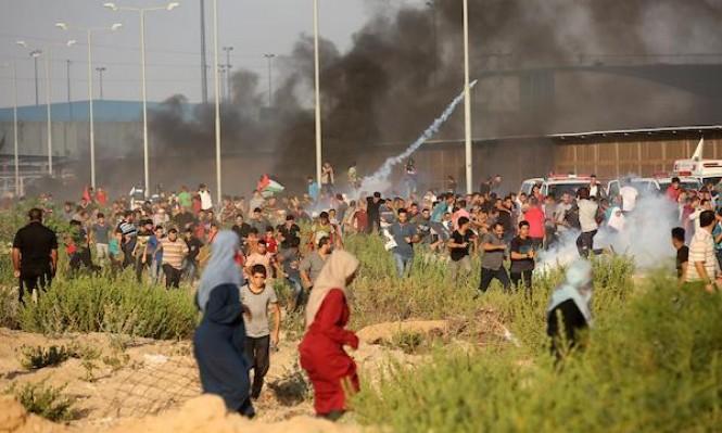 غزة: إصابات بقمع الاحتلال لمسيرة سلمية شرقي دير البلح