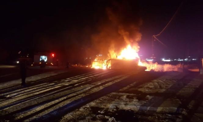 طمرة: حريق قرب محطة وقود