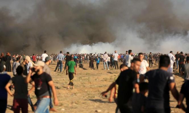 """جمعة """"كسر الحصار"""": شهيد و159 مصابا برصاص الاحتلال في غزة"""