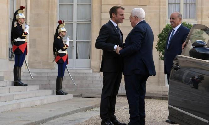 عباس لماكرون: مستعدون للتفاوض مع إسرائيل بالسر والعلن