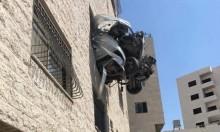 نابلس: مصرع شاب استقرت مركبته على شباك مبنى