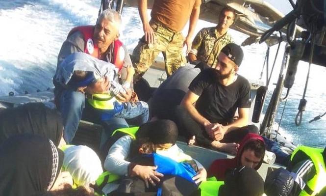 غرق قارب يقل 39 لاجئا سوريا قبالة لبنان