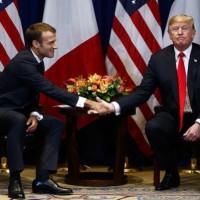ترامب وماكرون يبحثان القضايا الخلافية بين البلدين