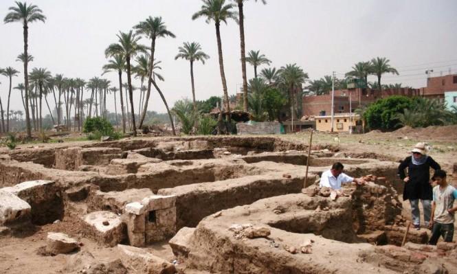 مصر: اكتشاف مبنى أثري ضخم تحت الأرض