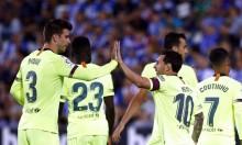ليغانيس يلحق الخسارة الأولى ببرشلونة بالدوري