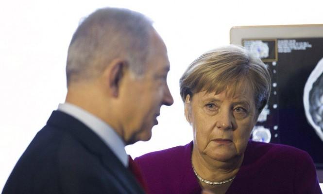 """نتنياهو: عباس يخنق غزة؛ ميركل: قلقة من """"قانون القومية"""""""