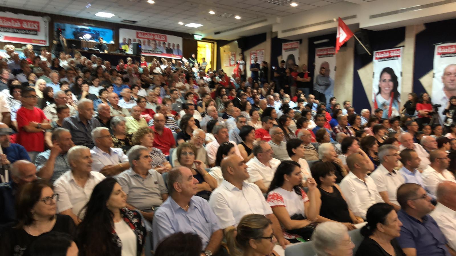 """الناصرة: الجبهة تطلق حملتها الانتخابية والتعويل على """"الصوت الصامت"""""""