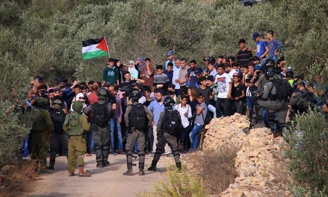 نابلس: عشرات الإصابات بقمع الاحتلال لاعتصام رفضا لإغلاق مدرسة