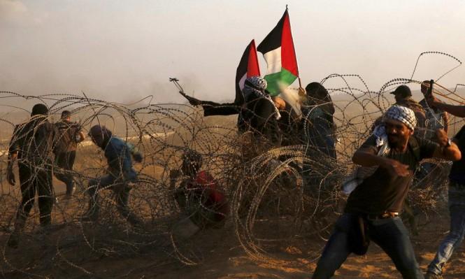 طائرة تستهدف مطلقي البالونات الحارقة وتوغل عسكري بغزة
