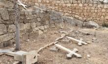 تدنيس مقبرة دير الرهبان السالزيان في بيت جمال