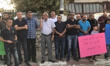 تظاهرة احتجاجا على إخطارات هدم 13 منزلا بالطيبة وقلنسوة
