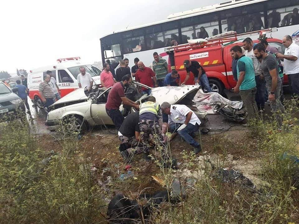 مصرع 3 فلسطينيين بحادث سير قرب جنين