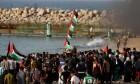 قطاع غزة: 78 إصابة متفاوتة في المسير البحري الـ13