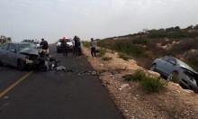 3 إصابات في حادث طرق قرب أم الريحان