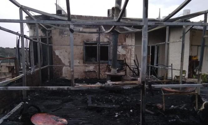 وادي سلامة: نجاة مسنين إثر جريمة حرق بيت وسيارات