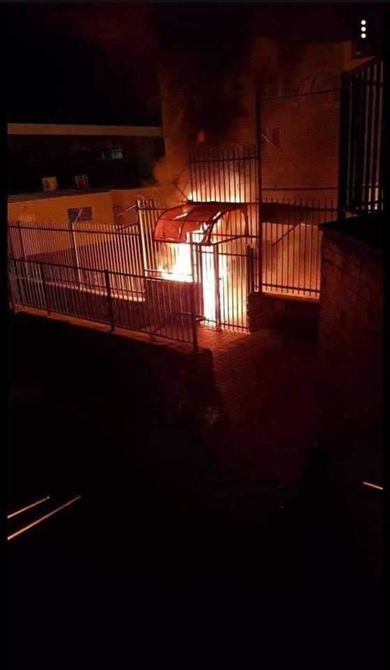 طرعان: حرق مدخل مدرسة وسيارة على خلفية الانتخابات