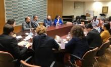 نواب المشتركة يلتقون وفدا من المجلس الأوروبي