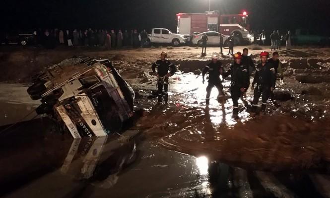 ارتفاع عدد ضحايا سيول الأردن إلى 12