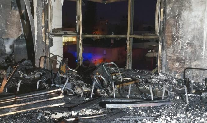 قلنسوة: حريق في مبنى البلدية وأضرار جسيمة