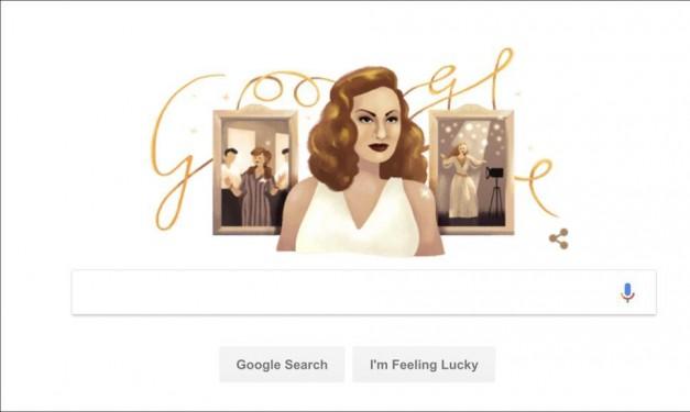 """في الذكرى الـ87 لميلادها: """"غوغل"""" يحتفي بهند رستم"""