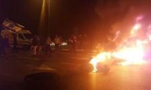 """""""غلاف غزة"""": إشعال إطارات وإغلاق شوارع احتجاجا على وقف إطلاق النار"""